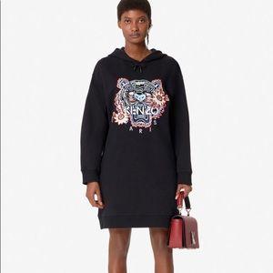 NWT KENZO Passion Flower Tiger Sweatshirt Dress